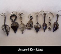 Assorted Key Rings-- great ideas!  visit stonecountyironworks.com for more wrought iron designs!