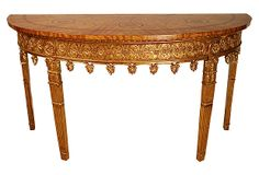 Wesley Console - reproduction Adam-style demilune from Agostino