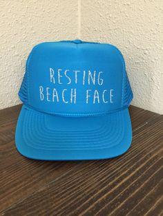 366e2aad0ba Resting Beach Face Trucker Hat. Monogram HatsBall CapsHat ShopVinyl ...