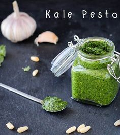 Kale pesto is a variation of the classic basil pesto. This kale pesto is absolutely delicious and can be used in a myriad of dishes
