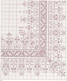 This is pretty. Motifs Blackwork, Blackwork Cross Stitch, Blackwork Embroidery, Cross Stitch Samplers, Diy Embroidery, Cross Stitching, Cross Stitch Embroidery, Embroidery Patterns, Cross Stitch Boarders