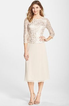 http://www.lyst.com/clothing/alex-evenings-sequin-lace-bodice-chiffon-midi-dress-camel/?product_gallery=52019146