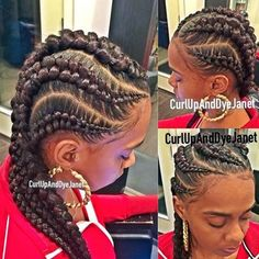 STYLIST FEATURE  Love these #zipper cornrows styled by #LAStylist @curlupanddyejanet❤️ So different and pretty #voiceofhair ========================= Go to VoiceOfHair.com ========================= Find hairstyles and hair tips! =========================