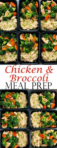 Chicken and Broccoli Stir Fry Meal Prep. An easy meal that can be made ahead of time for your weekly meal prep. #dinnermealplans
