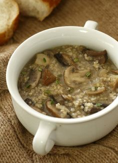 mushroom bulgar soup, this looks and sounds delicious!