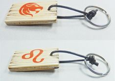 Keychain with zodiac sing and astrological symbol Leo, birthday gift, keys organization, Valentine's Day, gift for him, gift for her, by BurnedMatchCreations on Etsy