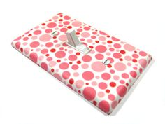 Pink Polka Dot Bubbles Light Switch Cover Girls
