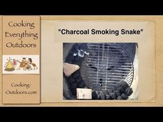 How to Make a Charcoal Smoking Snake - Extend your grilling time up to 12 hrs without lifting the lid! | Easy #Grilling Tips | Cooking-Outdoors.com