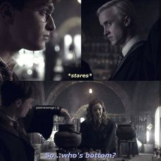 i think that Draco is bottom, idk why Harry Potter Comics, Harry Potter Feels, Harry Potter Puns, Harry Potter Draco Malfoy, Harry Potter Ships, Harry Potter Universal, Harry Potter Characters, Dramione, Slytherin