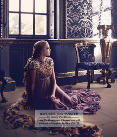 Rapunzel- Jenny Packham    (do check out the blog for all these amazing photo's)