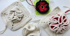 """17. Dezember 2012 * Granny Square """"Bobble"""" * nadelspiel Adventskalender 2012"""