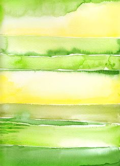 Abstract Painting Green Watercolor Painting Original Contemporary Art Modern Art Abstract Art Yellow Nature Fine Art Giclee PRINT Minimalist...