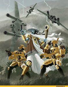 warhammer 40000,фэндомы,art,красивые картинки,tau empire,Fire warrior