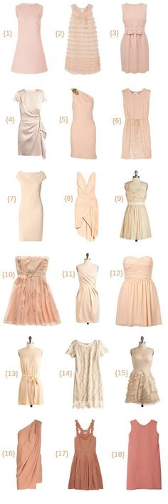 love the idea of blush or nude colored bridesmaids' dresses. :)