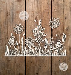 SVG / PDF Meadow Design - Papercutting Template to print and cut yourself (Commercial Use)