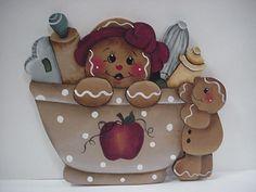 HP~~Gingerbread Baking Cookies Mixing Bowl  ~~  Fridge MAGNET