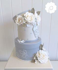 Celebration Cakes, Birthday Celebration, Beautiful Cakes, Most Beautiful, 90th Birthday Cakes, Brush Embroidery, Occasion Cakes, Cake Art, How To Make Cake