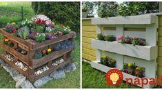 Namiesto črepníkov vysadili kvety a bylinky do vyradených paliet a vyzerá to úžasne: 17 inšpirácií na dvor aj terasu! Mosaic Garden, Stepping Stones, Projects To Try, Outdoor Decor, Home Decor, Fairy, Gardening, Gardens, Palette Garden