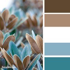 Цветосочетание. Синий и коричневый. | biser.info - всё о бисере и бисерном творчестве