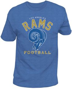 Authentic Nfl Apparel Men s Los Angeles Rams Midfield Retro T-Shirt Nfl  Apparel 2a9b40b5c