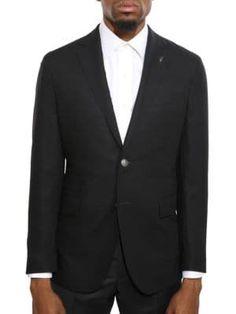 Michael Bastian Notched Lapel Jacket In Black Michael Bastian, Welt Pocket, Suit Jacket, Handsome, Mens Fashion, Long Sleeve, Sleeves, Jackets, Shopping