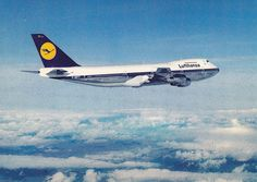 Lufthansa German Airlines B-747. ....The Jumbo <3 my favorite airplain sice Im 6..... Remember I wanted to eat the clouds so much and airplains were my big friends <3