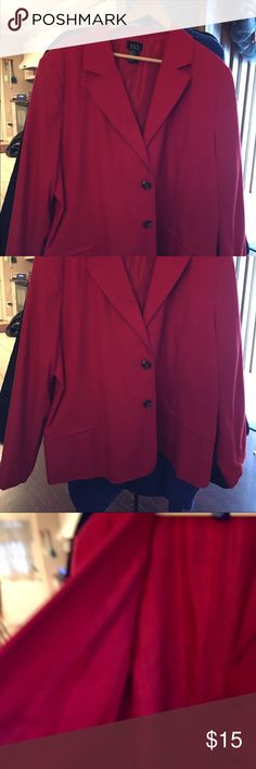 Lined pants jacket Dress up a pair of pants or a skirt. A beautiful shade of red. Fully lined.  Brand new. Never worn. Tags removed RQT WOMAN Jackets & Coats Blazers