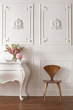 Classical meets modern feminine. Josef Medellin Designed this gorgeous office for Grow Marketing in San Francisco.