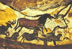 15,000-13,000 BCE - The Unicorn, Lascaux Caves, Southern France. Paint on limestone w/ charcoal