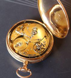Seltene 18Kt.Gold Taschenuhr mit selbstauslösendem Spielwerk zur vollen Stunde! Pocket Watch, Watches, Gold, Accessories, Fashion, Nice Watches, Nice Asses, Moda, Wristwatches