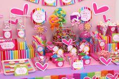 Rainbow Party | CatchMyParty.com  #rainbow #party