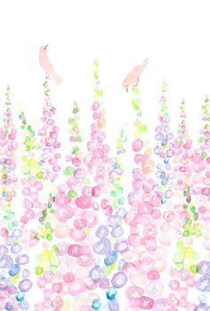 水彩で、背の高いジギタリスの花を描きました。 ●エンボス加工の無地のハガキに、インクジェットで印刷しています●3枚セットで300円。他に気に入られたデザインのカードがございましたら、異種3枚セットにしてお送りします。お申し付けください。※画材メーカーKAWACHIさんのペーパーマルチランド・コットンエンボス(ハガキサイズ)というOA用紙を使用しています。普通のハガキよりも若干厚みが薄めです。...