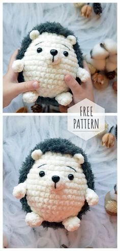 Amigurumi Hedgehog Free Pattern - knitting is as easy as 3 knitting . Amigurumi Hedgehog Free Pattern – Knitting is as easy as 3 Knitting boils down to three ess Crochet Afghans, Crochet Patterns Amigurumi, Crochet Dolls, Knitting Patterns Free, Free Knitting, Crochet Baby, Afghan Patterns, Diy Crochet, Baby Patterns