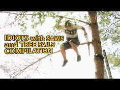 Chainsaw fails and idiots cutting trees. FAIL COMPILATION about how not to remove trees. Part 4 - YouTube