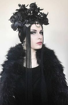 Check out this item in my Etsy shop https://www.etsy.com/uk/listing/551363818/gothic-headpiecewitch