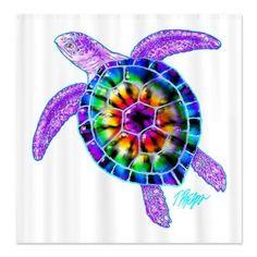 Purple Tie Dye Turtle Shower Curtain by CafePress - White by CafePress, http://www.amazon.com/dp/B009XLD6EE/ref=cm_sw_r_pi_dp_iWk3qb1HMT9FG