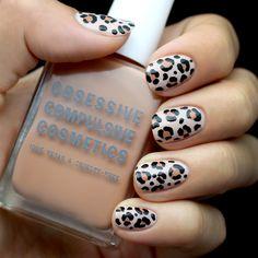 nails - i see no reason why leopard print nails shouldn't be bridal.