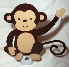 Adorable Jungle Monkey Play Nursery Night Light