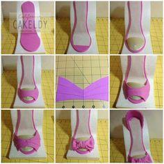 Ruffle shoe tutorial a template for my small ruffle shoe http high heel in clay maxwellsz