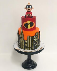 Jack Jack and his 🍪 Jack And Jack, Baby Boy 1st Birthday, 6th Birthday Parties, Incredibles Birthday Party, Superhero Cookies, Fun Party Themes, Party Ideas, Cute Cakes, Party Cakes