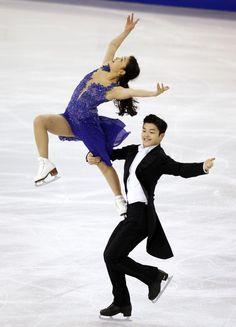 Maia & Alex Shibutani of the U.S. at the 2014 Grand Prix Final