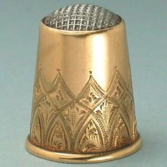 A Scandinavian steel top gold thimble is shown on p. 122 of The Story of the Thimble by Bridget McConnel. Antique Steel Top 18 Kt Gold Thimble. This elegant thimble has a rolled rim and is solid 18 Kt gold. | eBay!