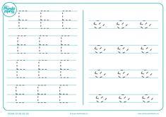 Fichas de gramotricidad con letras - Mundo Primaria Mini Mundo, Embroidery Patterns, Math Equations, Education, Words, Alphabet, Wire, Teaching Letters, Printable Alphabet