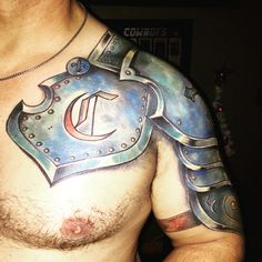 My husbands armor tattoo!