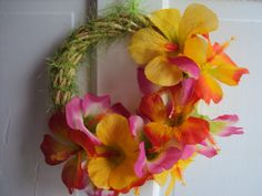 Fun Hawaiian Wreath