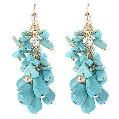 "146-945- Robert Rose 2.5"" Simulated Gemstone & Crystal Dangle Earrings"