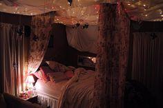 BEDROOM, DECOR, LIGHTS, COMFY, BED, BOHO, PRETTY