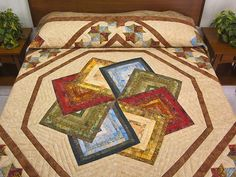 Star Spin Quilt -- gorgeous skillfully made Amish Quilts from Lancaster (hs5390)