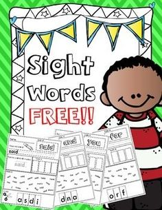 Dolce Pre-Primer Sight Words for Kindergarten and First Grade! Dolce Pre-Primer Sight Words for Kindergarten and First Grade! Teaching Sight Words, Sight Word Practice, Sight Word Games, Sight Word Activities, Sight Words For Kindergarten, Sight Word Worksheets, Sight Word Centers, Sight Words Printables, Class Activities