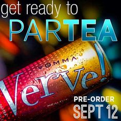 Time to Partea!!! Soo excited for this drink! Yummy tea that is Healthy, treats your body good! Mango flavor, yay!!! Pre-orders start Sept 12, Launches Oct 12!